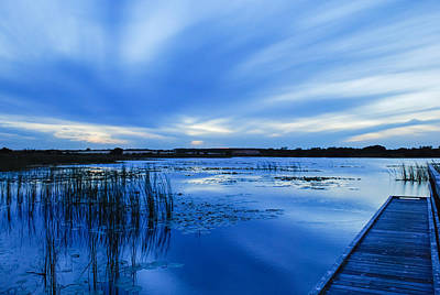 Photograph - Blue Sunset 2 by Pamela Williams