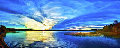 Photograph - Blue Sunset At Round Lake by ABeautifulSky Photography by Bill Caldwell