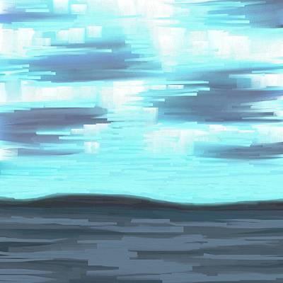 Scottsdale Mixed Media - Blue Sunset by Chris Bradley