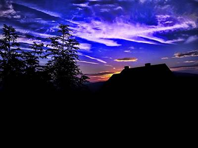 Art Print featuring the photograph Blue Sunset In Poland by Mariola Bitner