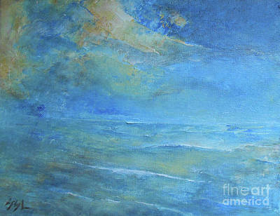 Painting - Blue Sunset by Jane See