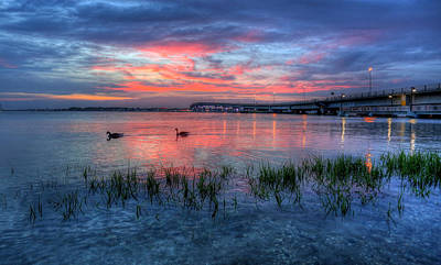 Photograph - Blue Sunset by John Loreaux
