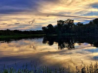 Photograph - Blue Sunset by Juan Montalvo