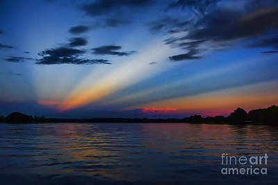 Photograph - Blue Sunset by Ken Johnson