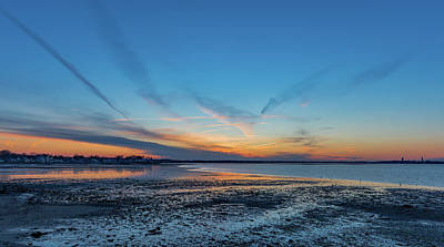 Photograph - Blue Sunset Over Houghs Neck In Quincy Massachusetts by Brian MacLean