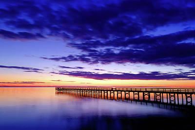 Photograph - Blue Sunset by Steve Stephenson