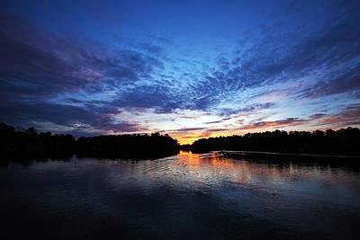 Blue Sunset Art Print by Ty Helbach