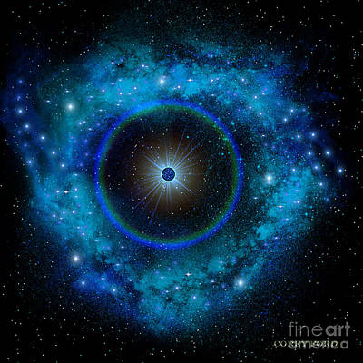 Blue Supernova Art Print