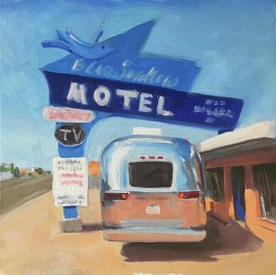 Blue Swallow Motel Art Print