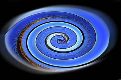 Photograph - Blue Swirl From Blue Ocean by Miroslava Jurcik