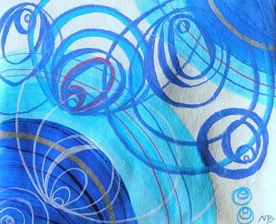 Blue Swril Number Three Original by Nina Bravo