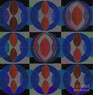 Blue Symmetry  Art Print