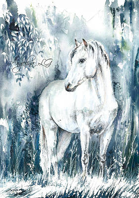 Painting - Blue Symphony by Angelina Ligomina