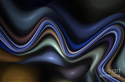 Digital Art - Blue Taffy by Sandra Bauser Digital Art