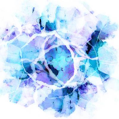 Avant Garde Mixed Media - Blue Tango - Abstract Art  by Ann Powell