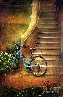 Photograph - Blue Taos Bicycle by Craig J Satterlee
