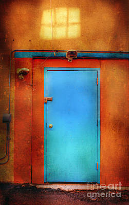 Photograph - Blue Taos Door by Craig J Satterlee
