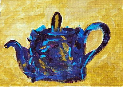 Painting - Blue Tea Pot by Rosemary Augustine