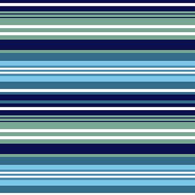 Digital Art - Blue Teal And White Summer Stripes Pattern by Lynn-Marie Gildersleeve