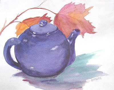 Painting - Blue Teapot by Marsha Woods