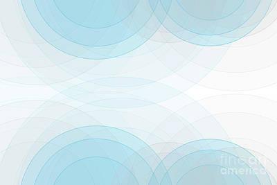 Blue Tec Semi Circle Background Horizontal Art Print