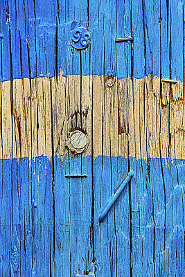 Telephone Poles Photograph - Blue Telephone Pole by Garry Gay