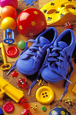 Photograph - Blue Tennis Shoes by Garry Gay
