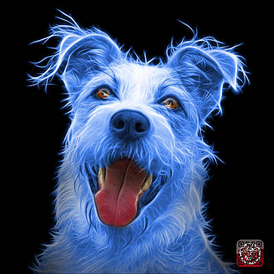 Painting - Blue Terrier Mix 2989 - Bb by James Ahn
