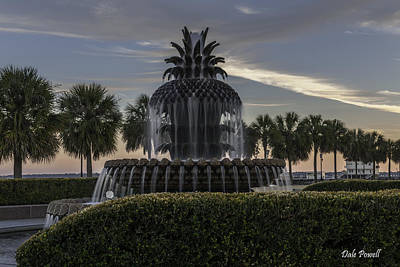Photograph - Southern Pineapple Fountain In Charleston Sc by Dale Powell