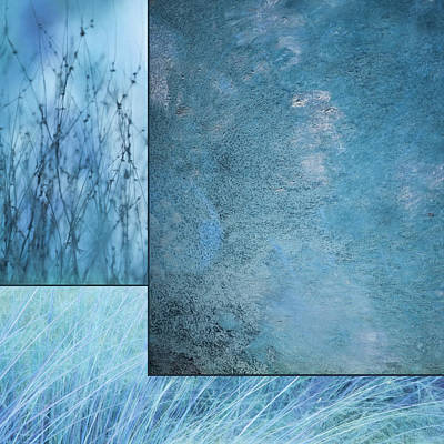 Mixed Media - Blue Textures 1 by Lori Deiter