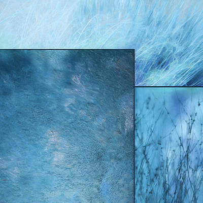 Mixed Media - Blue Textures 2 by Lori Deiter