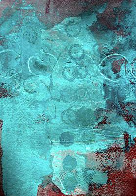 Painting - Blue Textures by Nancy Merkle