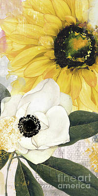 Sunflowers Royalty-Free and Rights-Managed Images - Blue Then Yellow II by Mindy Sommers