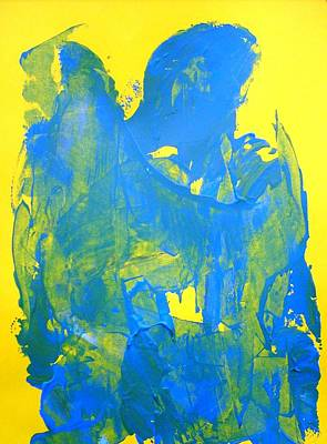 Perhaps Painting - Blue Thinking Angel by Bruce Combs - REACH BEYOND
