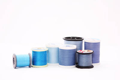 Quilting Photograph - Blue Thread by Nancy Ingersoll