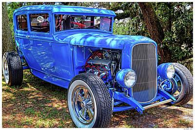 Street Rod Mixed Media - Blue Thunder by Rogermike Wilson