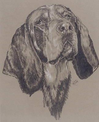 Bluetick Coonhound Art Print
