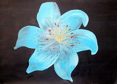 Blue Tiger Lily Original