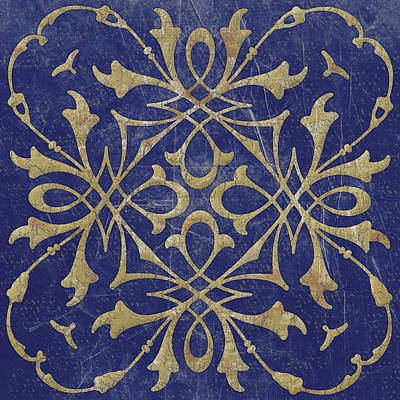 Mosaic Mixed Media - Blue Tile One by Marilu Windvand