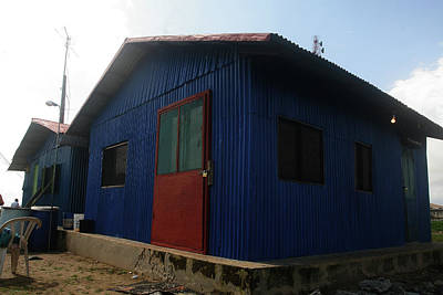 Photograph - Blue Tiny House by Muyiwa OSIFUYE