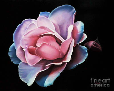 Blue Tipped Rose Art Print