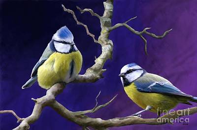 Painting - Blue Titmouse by Judy Filarecki