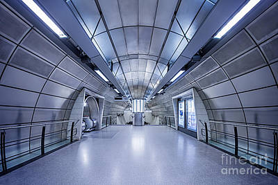 London Tube Photograph - Blue Tomorrow by Evelina Kremsdorf