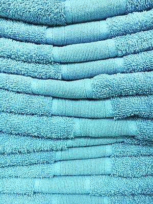 Blue Towels Art Print