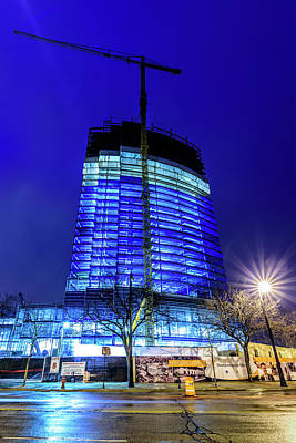 Photograph - Blue Tower Rising by Randy Scherkenbach