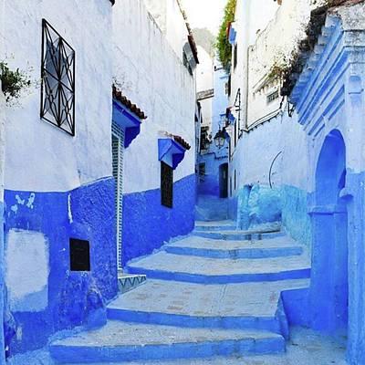 Blue Town(morocco) #mytravelgram Art Print by Seiji Hori