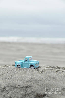 Photograph - Blue Toy Pickup Truck At The Beach by Jill Battaglia