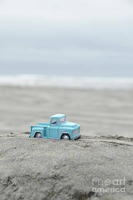 Photograph - Blue Toy Pickup Truck At The Beach by Jill Battaglia