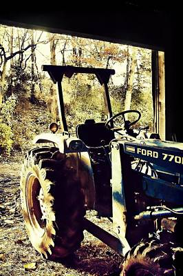 Photograph - Blue Tractor by JAMART Photography