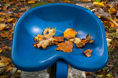Tennessee Photograph - Blue Tractor Seat by Douglas Barnett